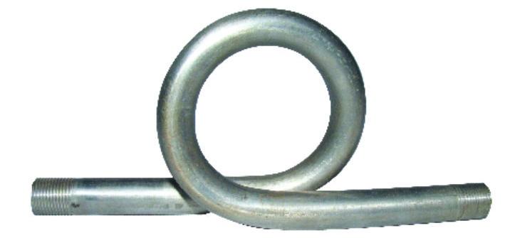 Syphon tube pressure gauge